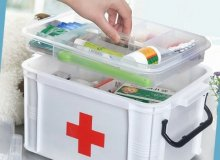 What should you keep in the first aid kit?